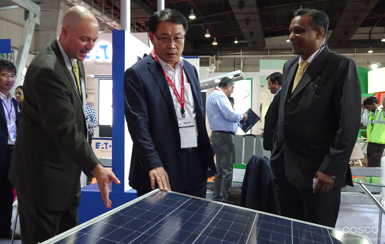 Gee Woong Sung, Chairman & Managing Director of POSCO-India, during the 2016 REI expo.