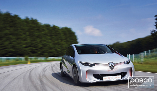 POSCO materials were used in the design of Renault's EOLAB concept car