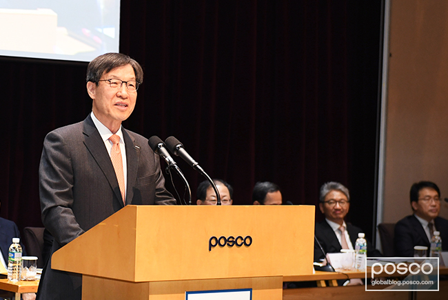 Ohjoon Kwon speaks at POSCO's 49th general shareholder meeting