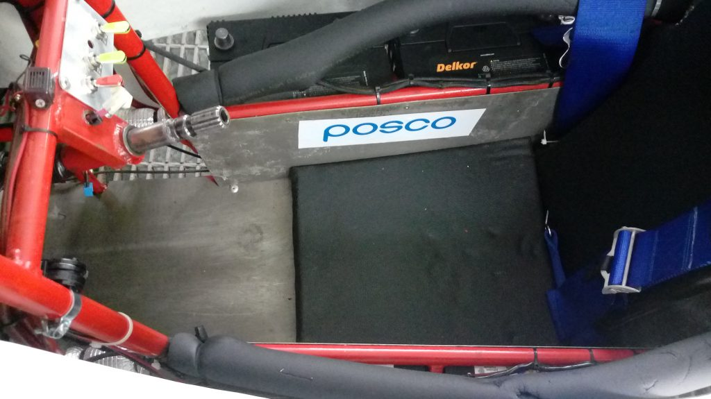POSCO's magnesium plate applied to the internal, driver side of the vehicle
